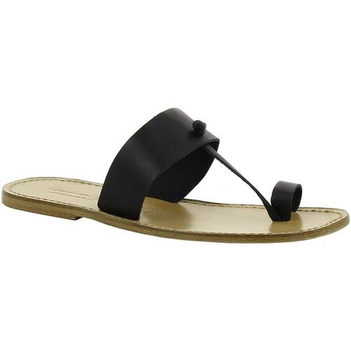 Zapatos Mujer Zuecos (Mules) Gianluca - L'artigiano Del Cuoio 554 U NERO LGT-CUOIO nero