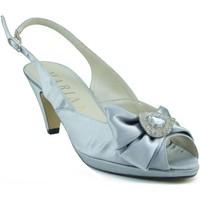 Zapatos Mujer Sandalias Marian ZAPATO TACON MEDIO PLATA PLATA