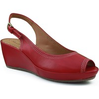 Zapatos Mujer Sandalias Montesinos CON CUÑA MUY Y ROJO