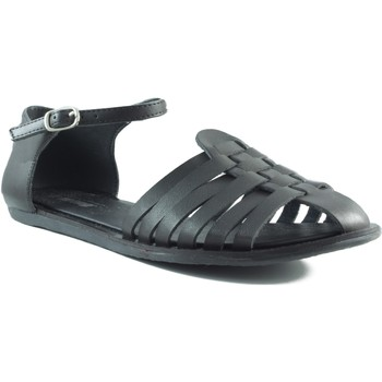 Zapatos Mujer Sandalias Mustang Old MUSTANG VACHE COFRI NEGRO
