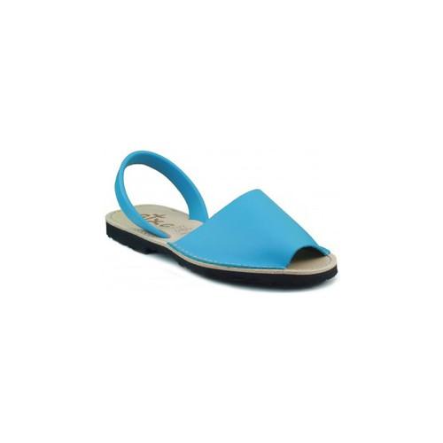 Zapatos Zuecos (Mules) Arantxa MENORQUINA DE PIEL CELESTE