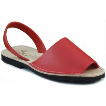 Zapatos Zuecos (Mules) Arantxa MENORQUINA DE PIEL ROJO