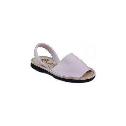 Zapatos Zuecos (Mules) Arantxa MENORQUINA DE PIEL ROSA