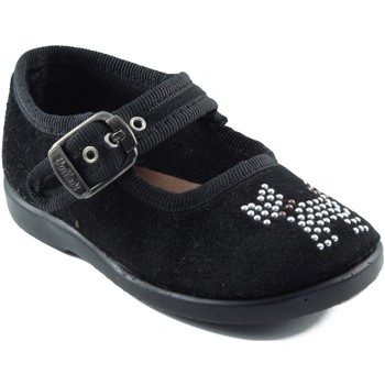 Zapatos Niña Bailarinas-manoletinas Vulladi NEGRA CALLE NEGRO
