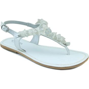 Zapatos Niña Sandalias Oca Loca OCA LOCA ESCLAVA PIEL NAPA BOLAS BLANCO