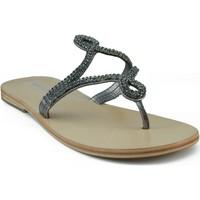 Zapatos Mujer Sandalias Oca Loca OCA LOCA ESCLAVA STRASS GRIS