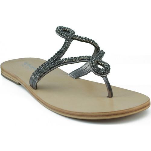 Zapatos Mujer Sandalias Oca Loca OCA LOCA ESCLAVA NIÑA STRASS GRIS