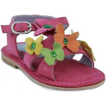 Zapatos Niña Sandalias Oca Loca OCA LOCA SANDALIA PIEL ANTE AD MARIPOSA FUXIA