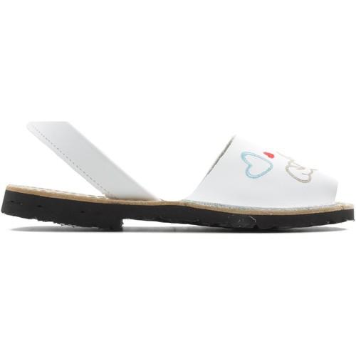 Zapatos Niña Sandalias Arantxa MENORQUINA PERRO BLANCO