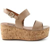 Zapatos Mujer Sandalias Arezzo Sandalias 4852 Beige