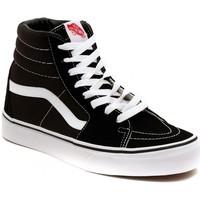 Zapatos Zapatillas altas Vans SK8 HI BLACK Plata