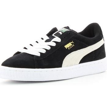Zapatos Niños Zapatillas bajas Puma SUEDE JR Noir/Blanc