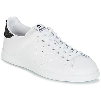 Zapatos Mujer Zapatillas bajas Victoria DEPORTIVO BASKET PIEL Blanco / Negro