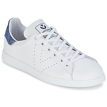Zapatos Zapatillas bajas Victoria DEPORTIVO BASKET PIEL Blanco / Azul