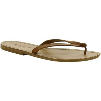 Zapatos Mujer Zuecos (Mules) Gianluca - L'artigiano Del Cuoio 540 D CUOIO CUOIO Cuoio
