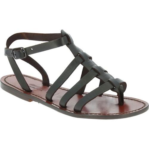 Zapatos Hombre Sandalias Gianluca - L'artigiano Del Cuoio 505 D MORO CUOIO Testa di Moro