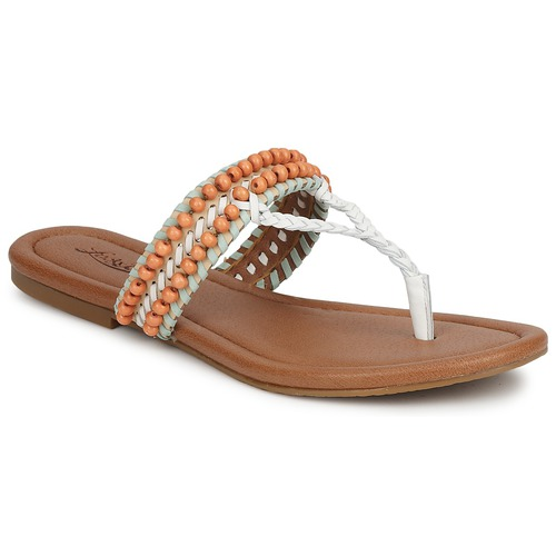 Brand NudeBlanco Zapatos Mint Lucky Dollis Sandalias Mujer fyg76b