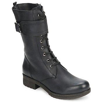 Zapatos Mujer Botas urbanas Unisa BLACK Negro