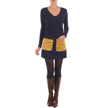textil Mujer Faldas Petit Bateau CARMEN Marino / Amarillo / Mostaza