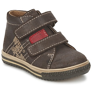 Zapatos Niño Zapatillas altas Citrouille et Compagnie ESCLO Marrón / Rojo
