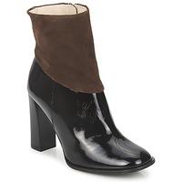 Zapatos Mujer Botines Paco Gil MERLOUNI Negro / Marrón
