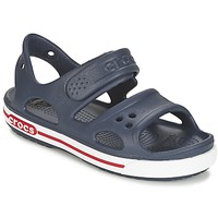 Zapatos Niño Sandalias Crocs CROCBAND II SANDAL PS Marino / Blanco