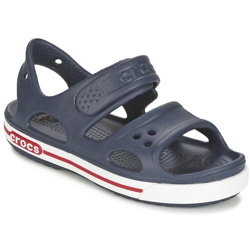 Zapatos Niños Zuecos (Clogs) Crocs CROCBAND II SANDAL PS Marino / Blanco