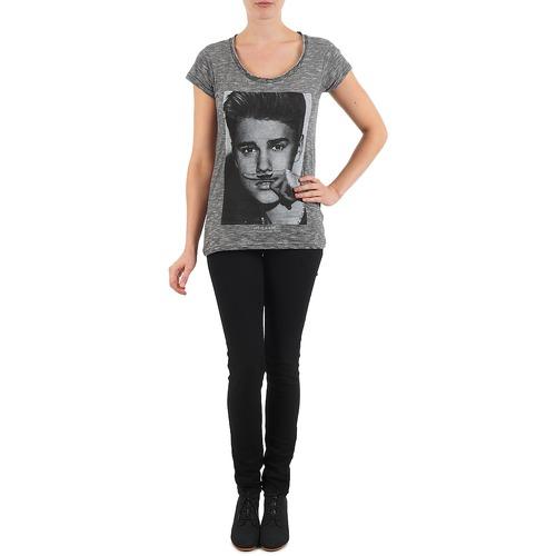 Manga Textil Negro Eleven Paris Corta Women Bieber W Mujer Camisetas XOuZiPk