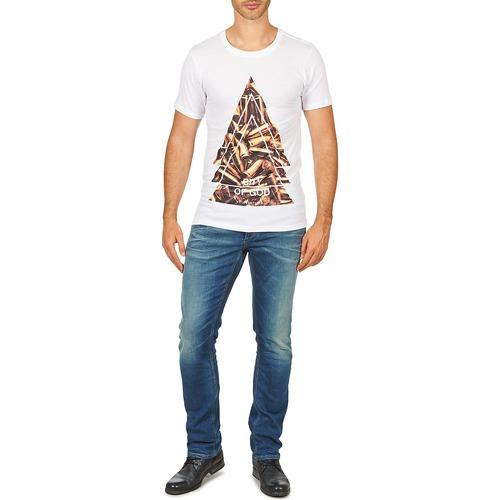 Citygod Corta Eleven Textil Manga Paris Hombre Men Blanco Camisetas M IE9WHD2Y