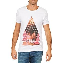 textil Hombre camisetas manga corta Eleven Paris MIAMI M MEN Blanco