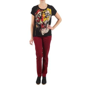 textil Mujer pantalones chinos Eleven Paris PANDORE WOMEN Burdeo