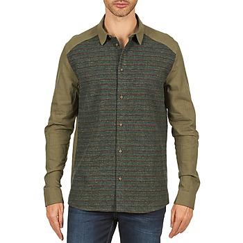 textil Hombre camisas manga larga Eleven Paris VRAPP MEN Kaki