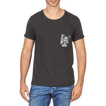 textil Hombre camisetas manga corta Eleven Paris WOLYPOCK MEN Negro