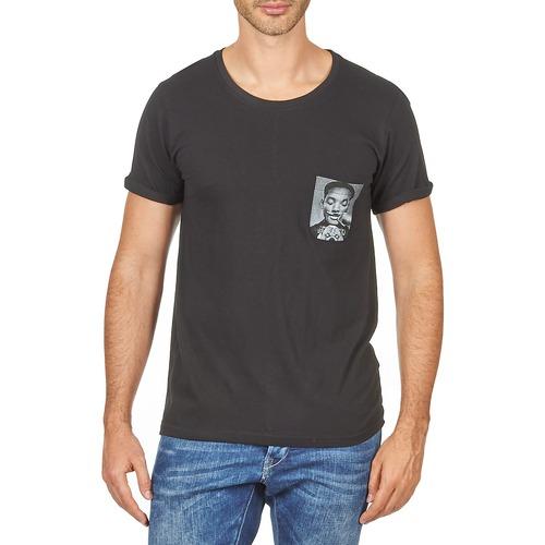 Paris Corta Hombre Camisetas Textil Eleven Negro Wolypock Manga Men nmOv0N8w
