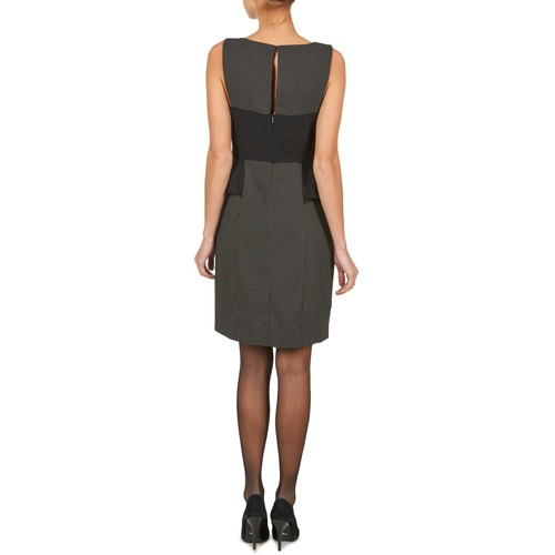 Peplum Vestidos Negro Textil Mujer Manoukian Cortos hQCrtsd