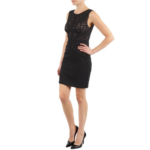 Mujer Cortos Vestidos Eileen Negro Textil Manoukian l1cuK5TJ3F
