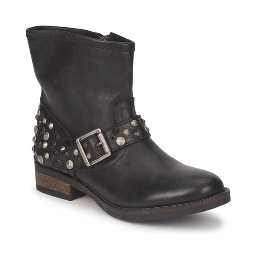 Venta de liquidación de temporada Zapatos especiales Pieces ISADORA LEATHER BOOT Negro