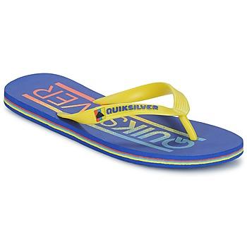 Zapatos Hombre Chanclas Quiksilver MOLOKAI WORDMARK Azul / Amarillo