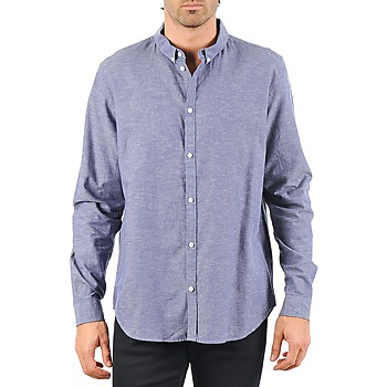 textil Hombre camisas manga larga Cheap Monday DAMON BD SHIRT Azul