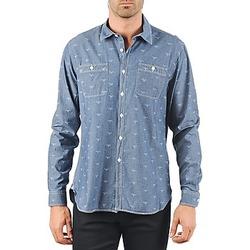 textil Hombre camisas manga larga Barbour LAWSON Azul