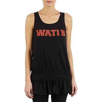 textil Mujer camisetas sin mangas Wati B TUNIQ Negro