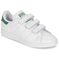 Zapatos Zapatillas bajas adidas Originals STAN SMITH CF Blanco / Verde
