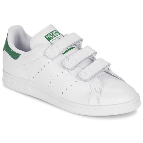 Casual salvaje Zapatos especiales adidas Originals STAN SMITH CF Blanco / Verde