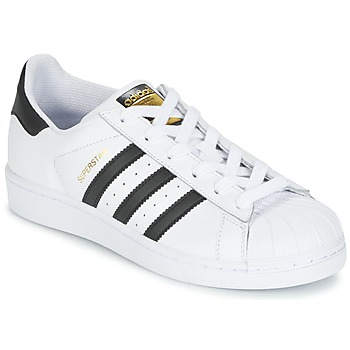 Zapatos Niño Zapatillas bajas adidas Originals SUPERSTAR Blanco