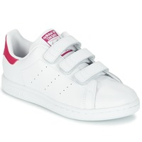 Zapatos Niña Zapatillas bajas adidas Originals STAN SMITH CF I Blanco / Rosa