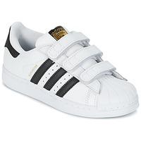 Zapatos Niños Zapatillas bajas adidas Originals SUPERSTAR FOUNDATIO Blanco / Negro