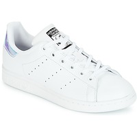 Zapatos Niña Zapatillas bajas adidas Originals STAN SMITH J Blanco