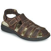 Zapatos Hombre Sandalias TBS BARROW Marrón