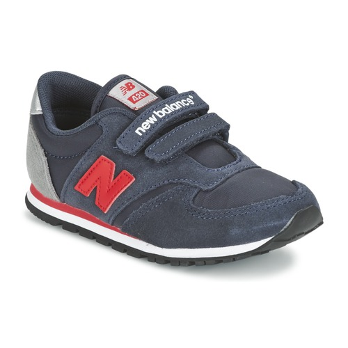 Zapatos Niños Zapatillas bajas New Balance KE420 Marino / Rojo