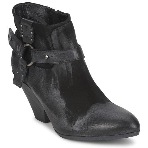 Cómodo y bien parecido Zapatos especiales Strategia SANGLA Negro / Plateado